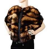 Одежда handmade. Livemaster - original item Zip-up oversize jacket with ferret fur pockets. Handmade.