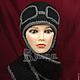 Шапки ручной работы. Ярмарка Мастеров - ручная работа. Купить Шапка - шарф Лётчик вязаная, зимняя, женская шапочка пилот. Handmade.