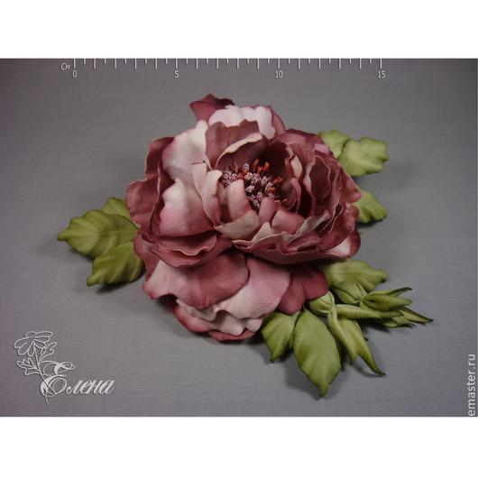 """Броши ручной работы. Ярмарка Мастеров - ручная работа. Купить Роза бархатная """"Мадам"""". Handmade. Бордовый, брошь цветок"""