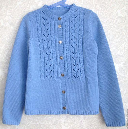 Одежда для девочек, ручной работы. Ярмарка Мастеров - ручная работа. Купить Кофточка для девочки 3. Handmade. Голубой, кофта