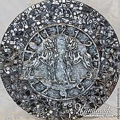 """Для дома и интерьера ручной работы. Ярмарка Мастеров - ручная работа Настенные Часы - """"Доги на серебре"""". Handmade."""