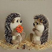 Куклы и игрушки ручной работы. Ярмарка Мастеров - ручная работа Ёжички Фроша и Фукся. Handmade.