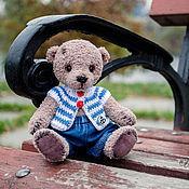 Куклы и игрушки ручной работы. Ярмарка Мастеров - ручная работа Медвежонок Тёма -вязаная игрушка. Handmade.