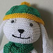 Куклы и игрушки ручной работы. Ярмарка Мастеров - ручная работа Заяц вязаный 100% хлопок. Handmade.