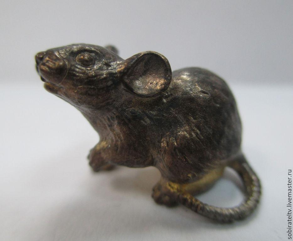 Статуэтки ручной работы. Ярмарка Мастеров - ручная работа. Купить Бронзовая мышка. Миниатюра. Handmade. Мышь, подарок девушке, мышки