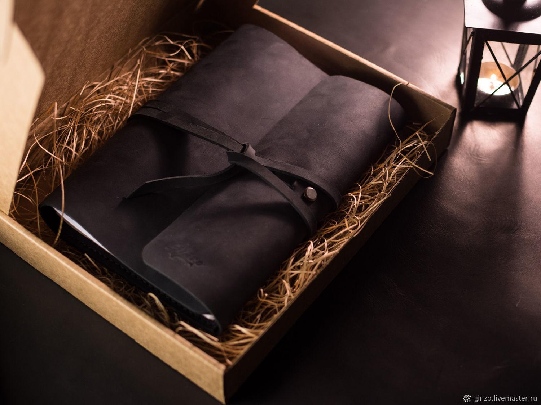 Блокнот ручной работы из кожи MYSTERY формат А5 цвет Черный, Блокноты, Тула,  Фото №1