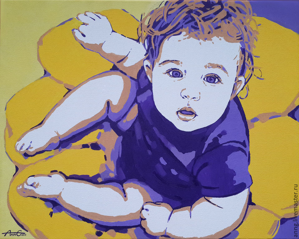 Portrait of a child in order on the photo in the style of pop art, colorful, modern, Pictures, Simferopol,  Фото №1