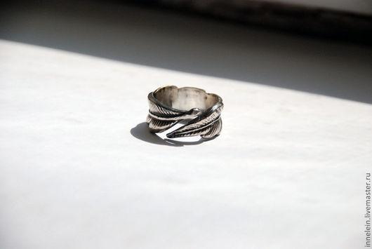"""Кольца ручной работы. Ярмарка Мастеров - ручная работа. Купить Кольцо """"Перышко"""". Handmade. Перо, перышко, перья, кольцо перо"""