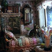 """Куклы и игрушки ручной работы. Ярмарка Мастеров - ручная работа Миниатюра в чайной коробочке """"Один дома"""" 2. Handmade."""