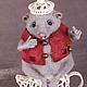 """Сказочные персонажи ручной работы. Мышь Соня (из """"Алисы в стране чудес""""). Жанна Бугрова. Ярмарка Мастеров. Миши, шляпник"""