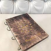 Блокноты ручной работы. Ярмарка Мастеров - ручная работа Блокнот из дерева. Handmade.