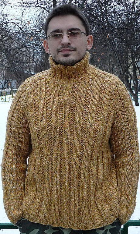 Как связать самый простой мужской свитер