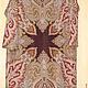 Павлопосадский  платок Февраль. Платье до колена, прямое, рукав рубашечный, длинный, цвет шоколадно-чернильный, вид спереди, р.46-50, 18000 руб.