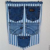 Для дома и интерьера ручной работы. Ярмарка Мастеров - ручная работа Настенные джинсовые карманы. Handmade.