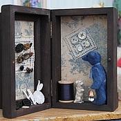 Куклы и игрушки ручной работы. Ярмарка Мастеров - ручная работа Presentation box. Mr. Button. Handmade.