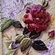 """Картины цветов ручной работы. """"Роза и письмена"""". Magdalina Магдалина (magdalinasolo). Ярмарка Мастеров. Подарок женщине, объемный, штемпельная подушечка"""