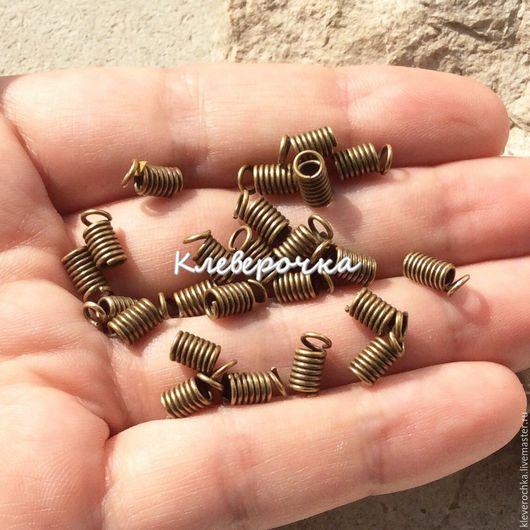 Концевики цвет бронза античная. Концевики для бижутерии и украшений ручной работы. Handmade.