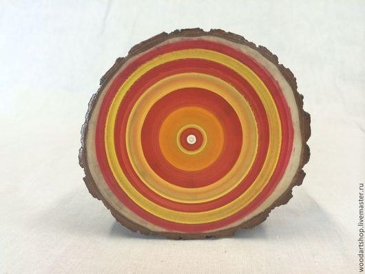 Абстракция ручной работы. Ярмарка Мастеров - ручная работа. Купить Декоративный спил бревна. Handmade. Панно, деревянный, интерьерная композиция