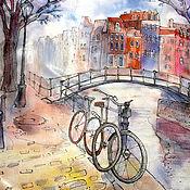 Картины и панно handmade. Livemaster - original item Batik. Panels Bikes. Amsterdam. Series. Handmade.