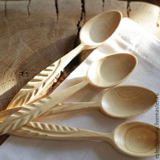 Кухня ручной работы. Ярмарка Мастеров - ручная работа. Купить Ложки из можжевельника. Handmade. Белый, ложка ручной работы