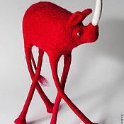 Куклы и игрушки ручной работы. Ярмарка Мастеров - ручная работа Красный Носорог. Handmade.