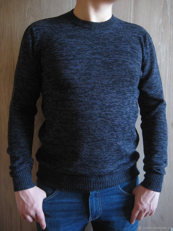 """Вязаный мужской пуловер """"Navy mix"""", Пуловеры, Москва,  Фото №1"""