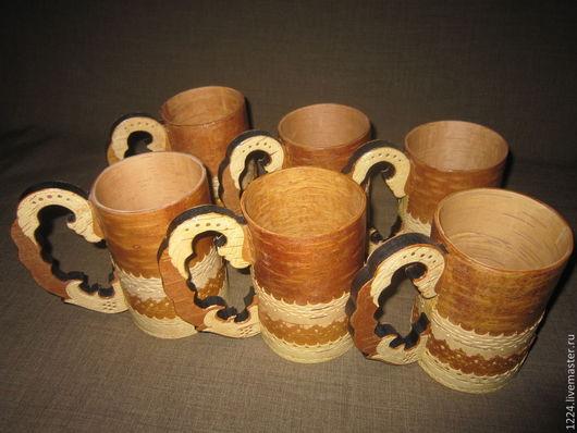 Кружки и чашки ручной работы. Ярмарка Мастеров - ручная работа. Купить Кружки из бересты. Handmade. Бежевый, кружка ручной работы