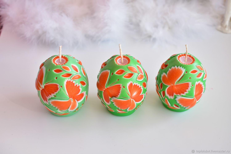 Резные свечи - Яйцо - Пасхальный сувенир - Резная свеча, Свечи, Тамбов,  Фото №1