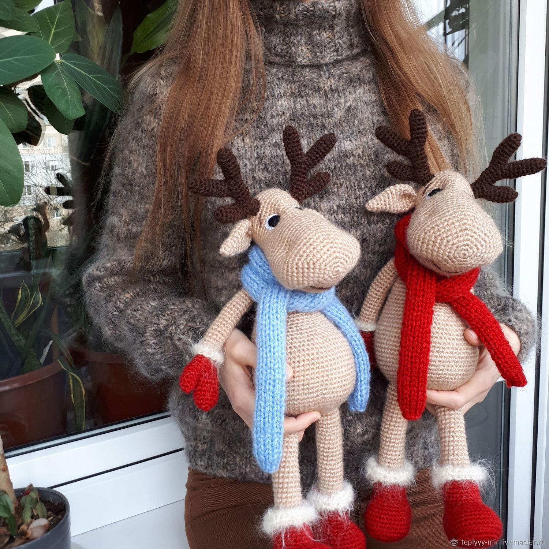 Олень новогодний, Мягкие игрушки, Сумы,  Фото №1