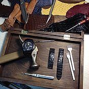 Аксессуары ручной работы. Ярмарка Мастеров - ручная работа Крокодиловый ремешок для наручных часов. Handmade.