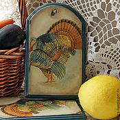 """Для дома и интерьера ручной работы. Ярмарка Мастеров - ручная работа Досочки для сыра """"Индюки"""" (набор). Handmade."""