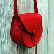 Классическая сумка ручной работы. Ярмарка Мастеров - ручная работа Женская кожаная сумка, saddle bag mini. Handmade.