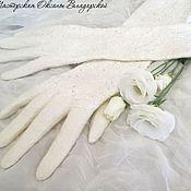 Свадебный салон handmade. Livemaster - original item Felted long gloves for wedding