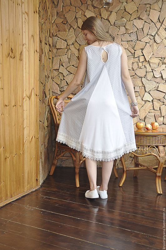 Платья ручной работы. Ярмарка Мастеров - ручная работа. Купить платье женское летнее. Handmade. Серый, кружевная тесьма