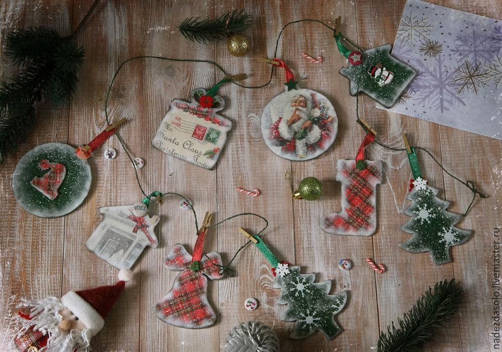 Новогодняя гирлянда Christmas Town Декупаж, Комплекты аксессуаров для дома, Химки, Фото №1
