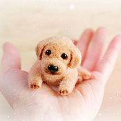 Куклы и игрушки handmade. Livemaster - original item Labrador. A souvenir made of natural wool. Handmade.