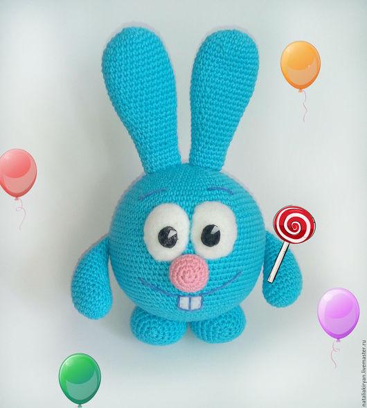 Сказочные персонажи ручной работы. Ярмарка Мастеров - ручная работа. Купить Кролик Крош -мультяшный весельчак. Handmade. Бирюзовый, флис