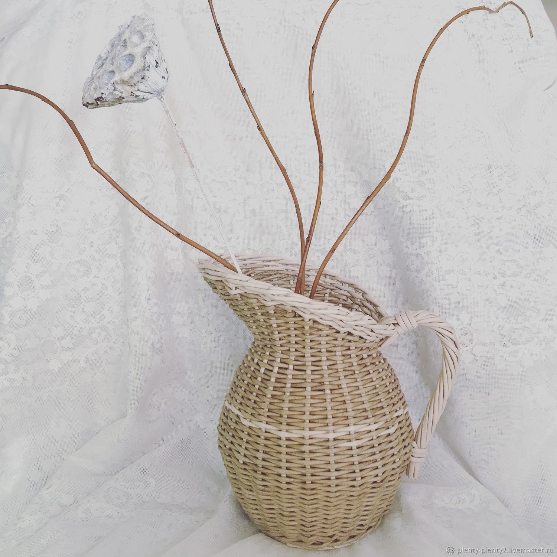 Плетёный кувшин/ваза, Вазы, Санкт-Петербург,  Фото №1