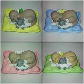 """Косметика ручной работы. Ярмарка Мастеров - ручная работа Сувенирное подарочное мыло"""" кошка с мышкой"""". Handmade."""