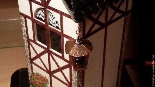 Кухня ручной работы. Ярмарка Мастеров - ручная работа. Купить Чайный домик с фонариком. Handmade. Подарок женщине, акриловый лак