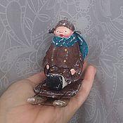 """Подарки к праздникам ручной работы. Ярмарка Мастеров - ручная работа Елочная игрушка """"Филипок"""". Handmade."""