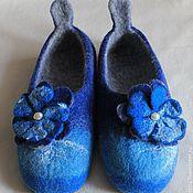 """Обувь ручной работы. Ярмарка Мастеров - ручная работа ТАПОЧКИ """"СИНЕВА"""". Handmade."""