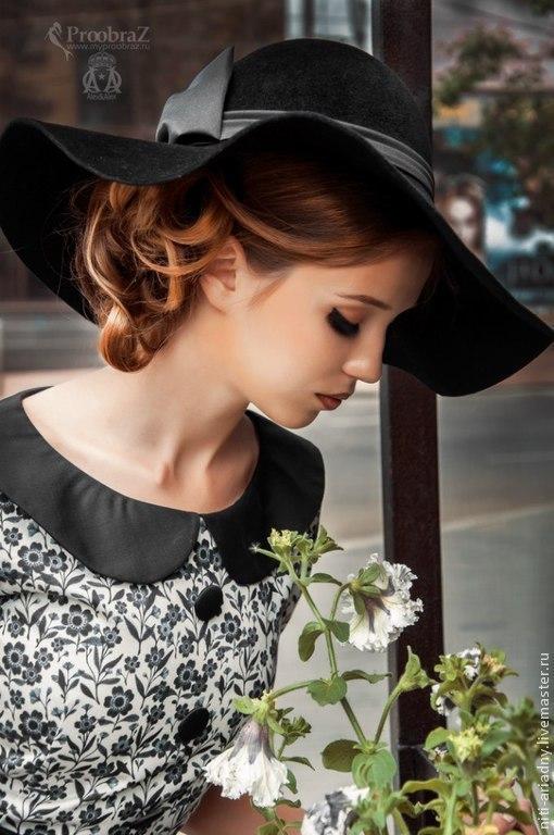 Шляпы ручной работы. Ярмарка Мастеров - ручная работа. Купить Женская шляпа с полями в стиле Диор. Handmade. Черный