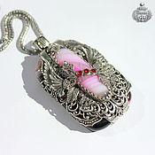 Украшения handmade. Livemaster - original item Chain Pendant, Ocean Heart, Earrings, handmade. Handmade.