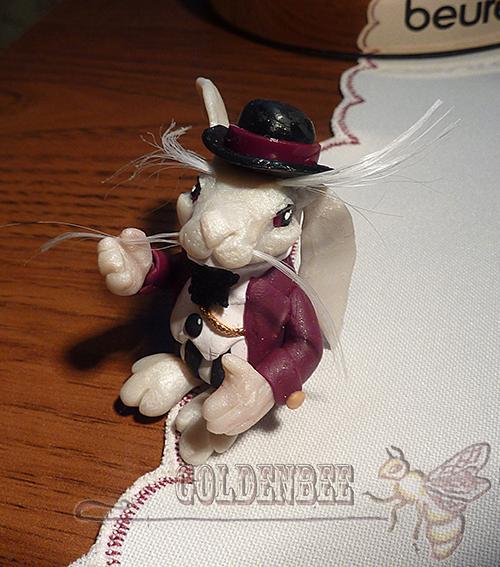 Миниатюра ручной работы. Ярмарка Мастеров - ручная работа. Купить Белый кролик. Handmade. Белый кролик, кукольная миниатюра