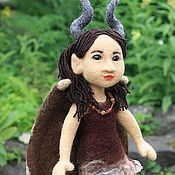 Куклы и игрушки ручной работы. Ярмарка Мастеров - ручная работа Кукла войлочная Малефисента. Handmade.