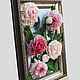интерьерная картина,картина с пионами,картина с цветами,пионы,украшение интерьере,украшение для интерьера,натюрморт с пионами,натюрморт с цветами,картина цветов,пионы розовые,белые пионы,пионы из поли