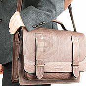 Сумки и аксессуары handmade. Livemaster - original item Leather briefcase