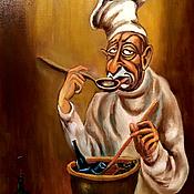 Картины и панно ручной работы. Ярмарка Мастеров - ручная работа Картина маслом на холсте Хмурое Утро. Handmade.