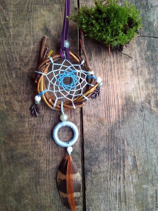 """Кулоны, подвески ручной работы. Ярмарка Мастеров - ручная работа. Купить Плетеный кулон """"Волшебство"""". Handmade. Синий"""